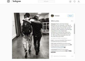 Lady Gaga comenta fim de noivado com Taylor Kinney: 'dando um tempo'