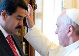 Em meio à crise política, Maduro visita o papa no Vaticano