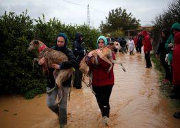 Chuva forte causa enchente no sul da Espanha e provoca uma morte