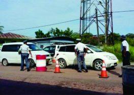 Polícia montou operação para rastrear motoristas que não pagaram multas no Suriname