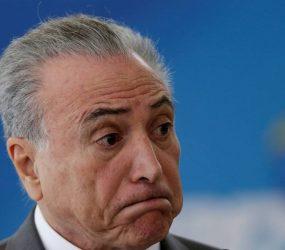Temer: Haja protestos ou não, Brasil continuará a trabalhar