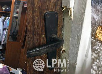 Brasileira perdeu jóias e notebook ao ter a casa arrombada por assaltantes em Paramaribo (Fotos)