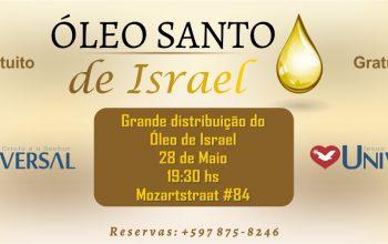Igreja Universal em Paramaribo promove evento com a distribuição do óleo santo de Israel