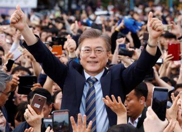Coreia do Sul: boca de urna dá vitória a liberal Moon Jae-in