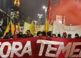 Protesto contra Temer no Rio reúne 50 mil pessoas