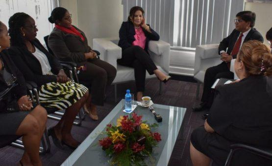 Primeira-dama Ingrid Bouterse recebe doação para projetos sociais