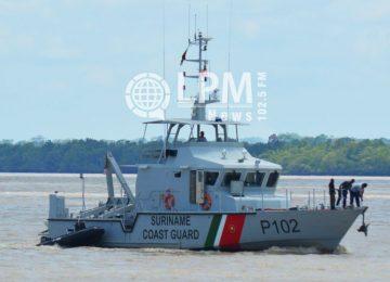 Corpos de três pescadores foram resgatados pela Guarda Costeira do Suriname
