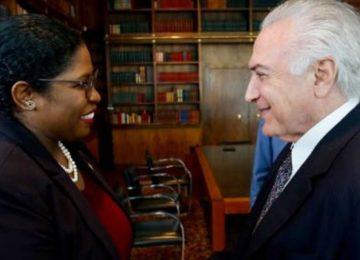 Ministra das Relações Exteriores do Suriname foi recebida pelo presidente Michel Temer em Brasília