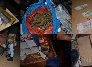 Polícia realiza operação de combate ao tráfico de pessoas e apreende drogas e armas no distrito de Brokopondo