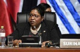 Ministra Yldiz Pollack Beighle pede paz em discurso na 8ª Cúpula das Américas