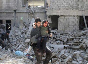 Bombardeios aéreos matam 22 civis no sul da Síria