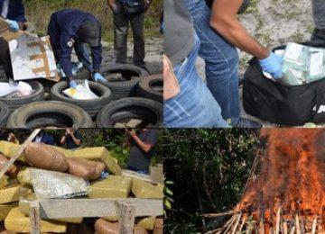 Brigada Anti-Narcóticos queimou mais de 600 kg de cocaína no Suriname