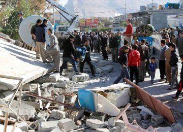 Terremoto fere quase 130 pessoas no Oeste do Irã neste domingo