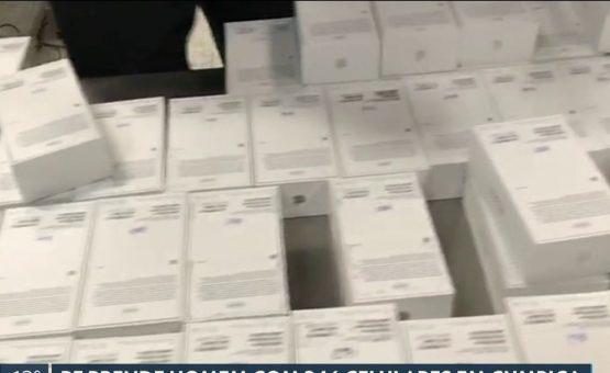 Passageiro é preso com 246 iPhones em mala no Aeroporto de Guarulhos