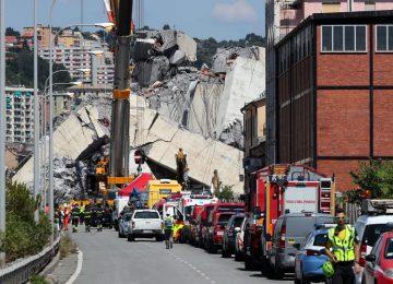 Número de mortos em desabamento de ponte em Gênova sobe para 42