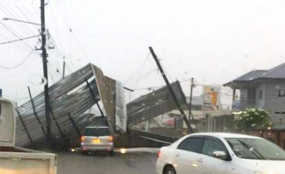 Chuva forte chega trazendo prejuízos no Kwatta