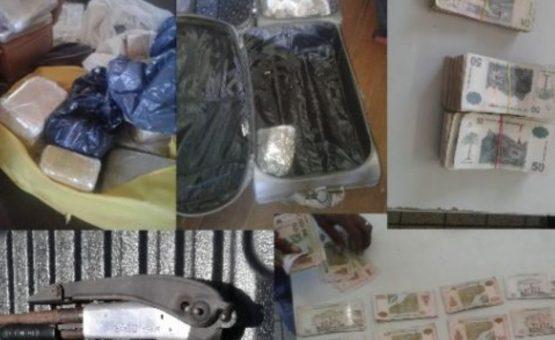 Polícia invade residência em Paramaribo e apreende drogas, armas e dinheiro