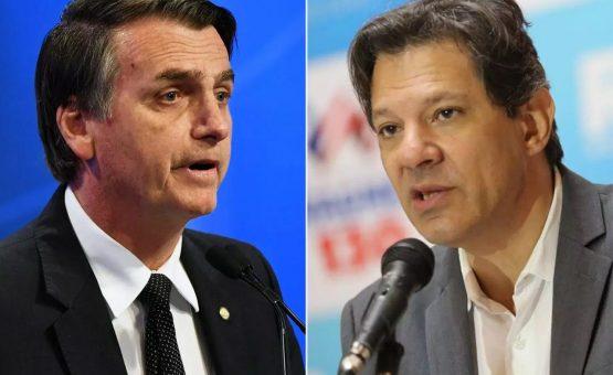 Jair Bolsonaro e Fernando Haddad decidirão eleição para presidente no segundo turno
