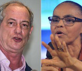 Ciro Gomes e Marina Silva se encontram em Brasília para discutir oposição a Bolsonaro