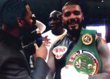 Tyrone Spong mantém o título de campeão depois de uma luta difícil