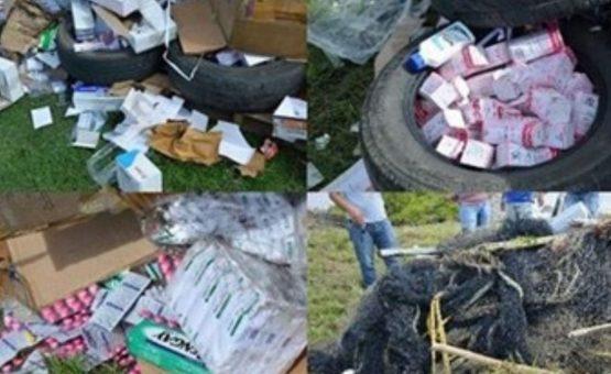 Polícia destrói grande lote de medicamentos ilegais no Suriname