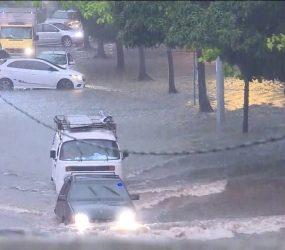Alagamento, queda de árvore e transtornos no trânsito de Belém