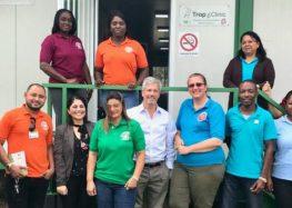Embaixador Laudemar Aguiar visitou a Tropclinic em Paramaribo