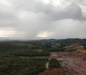 Chuva suspende início das buscas por vítimas em Brumadinho nesta segunda-feira