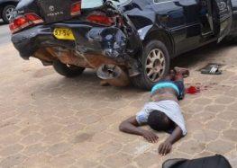 Ladrão foi baleado e preso pela polícia na Indira Gandhiweg