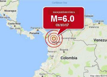 Terremoto atinge a Colômbia