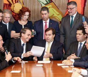 Bolsonaro recebe Maia no Alvorada para discutir reforma da Previdência