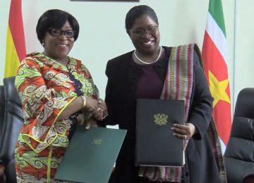 Quatro cartas de intenção são assinadas entre o Suriname e o país de Gana