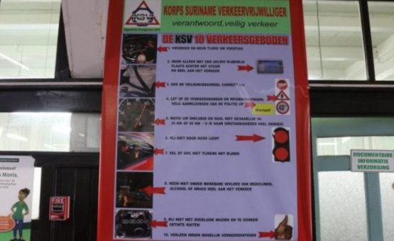 Semana da Segurança Rodoviária em Suriname