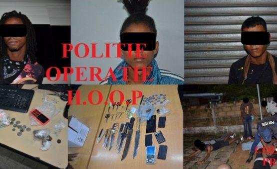 Polícia prende três suspeitos de tráfico de drogas