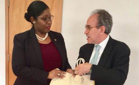 Ministra dos Negócios Estrangeiros do Suriname visita a Agência Brasileira de Cooperação (ABC)
