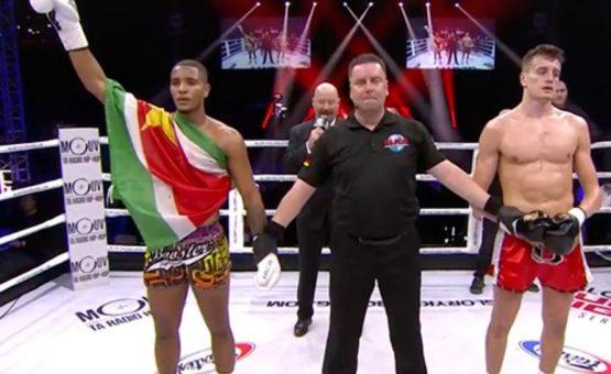 Kickboxer surinamês venceu combate por nocaute na França