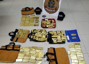 Polícia apreende 111 kg de ouro e avião no aeroporto de Goiânia