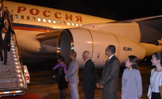 Russsische Buitenlandse Zaken minister op officieel werkbezoek in Suriname