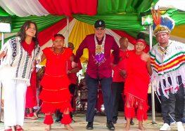 Bouterse destaca conclusão do processo pelo direito à terra e mensagem de paz, em evento dos Povos Indígenas