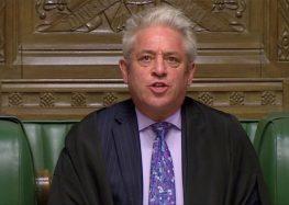Presidente da Câmara dos Comuns do Reino Unido anuncia sua renúncia