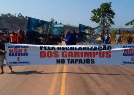 Garimpeiros interditam BR-163 para cobrar legalização de garimpos no sudoeste do Pará