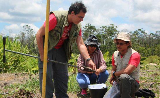 Missão brasileira coleta material de investigação do solo