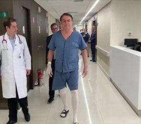 Bolsonaro apresenta melhora contínua e poderá tomar banho de chuveiro, diz boletim médico